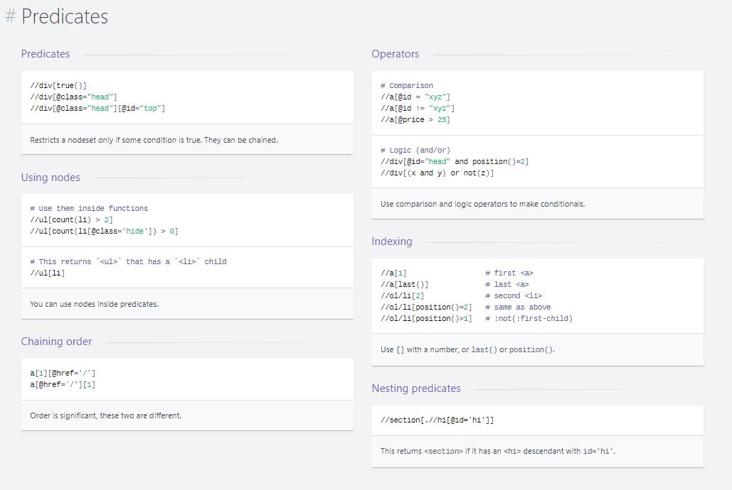 Xpath - lokalizowanie elementów - Predicates