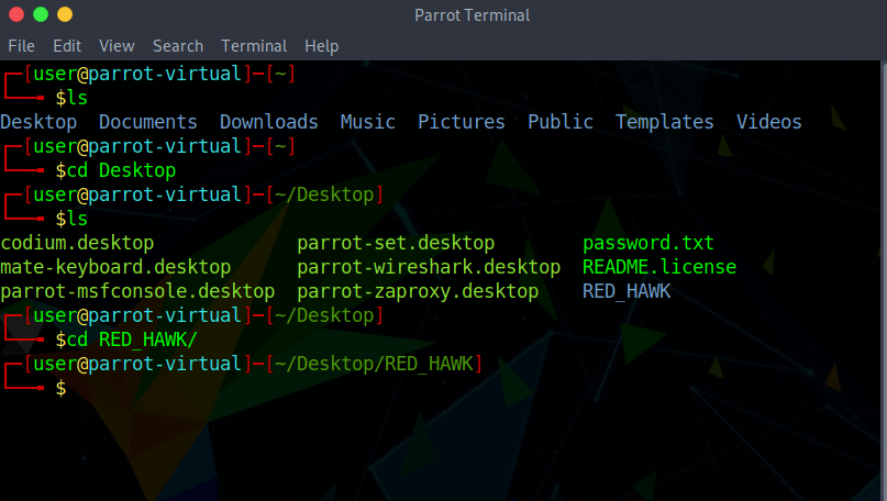 ParrotOS alternatywa Kali Linux - terminal
