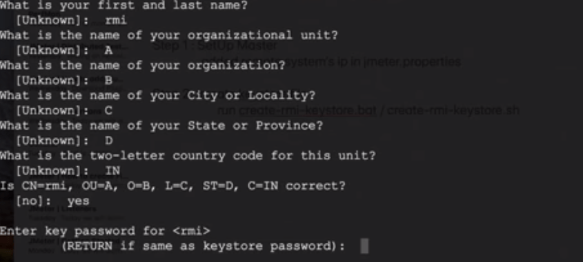 JMeter Distributed Testing - rmi keystore