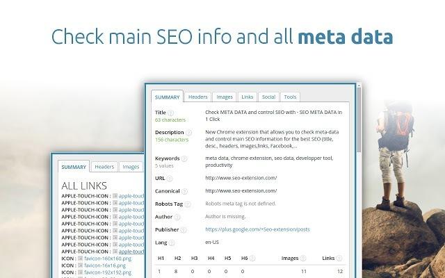 Chrome wtyczki dla testerów cz. 5 - SEO META in 1 CLICK