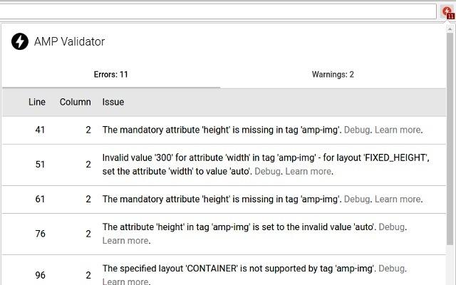 Chrome wtyczki dla testerów cz. 6 - AMP Validator