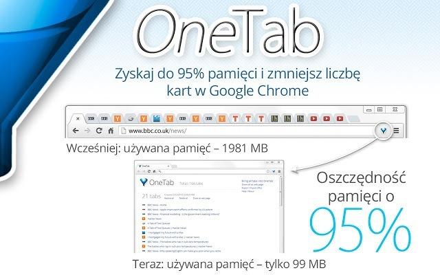 Chrome wtyczki dla testerów cz. 6 - OneTab