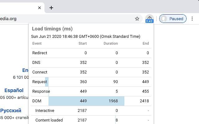 Chrome wtyczki dla testerów cz. 6 - Page load time